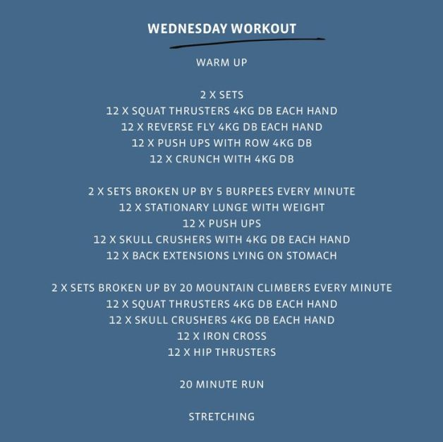 Today's Workout