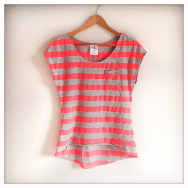 Pink stripy top
